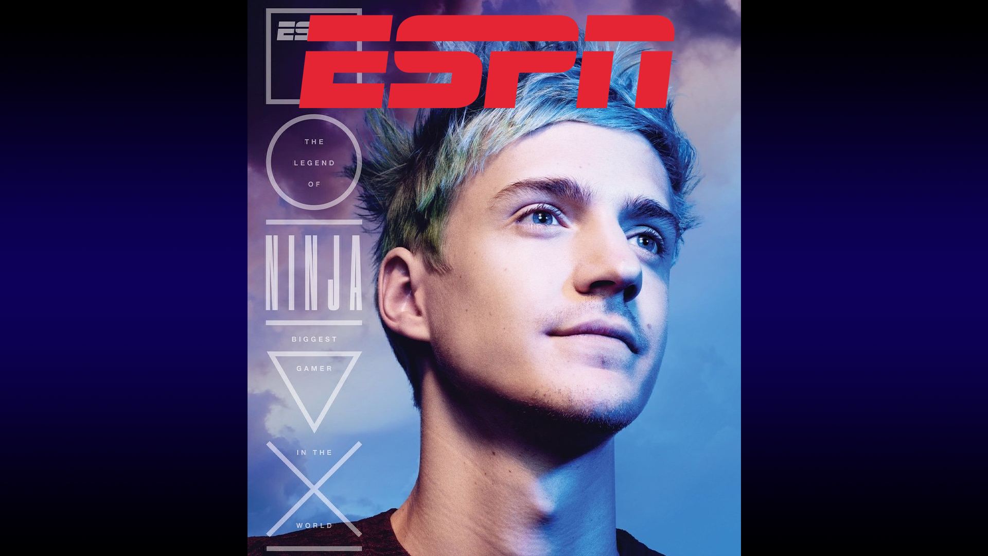 Ninja on front cover of ESPN?! (Or is ESPN on front cover of Ninja