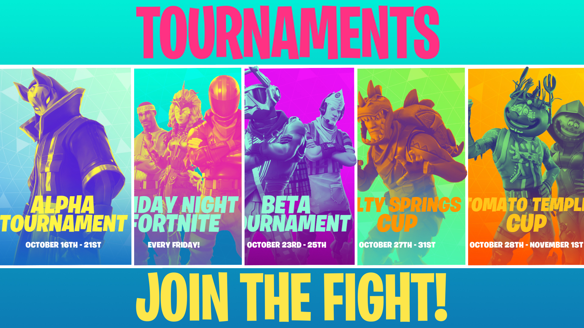 fortnite weekly tournaments