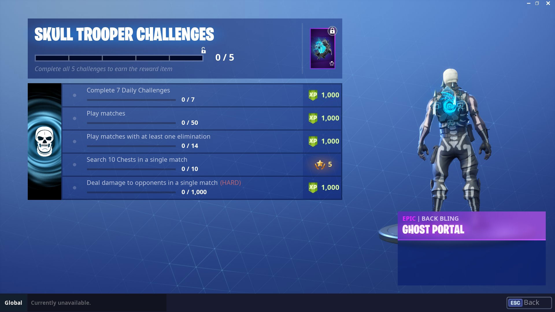 ghost portal back bling challenges