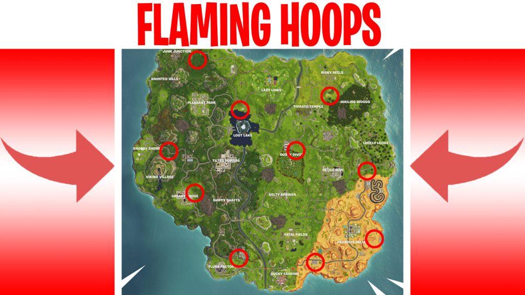 week 5 flaming hoop locations
