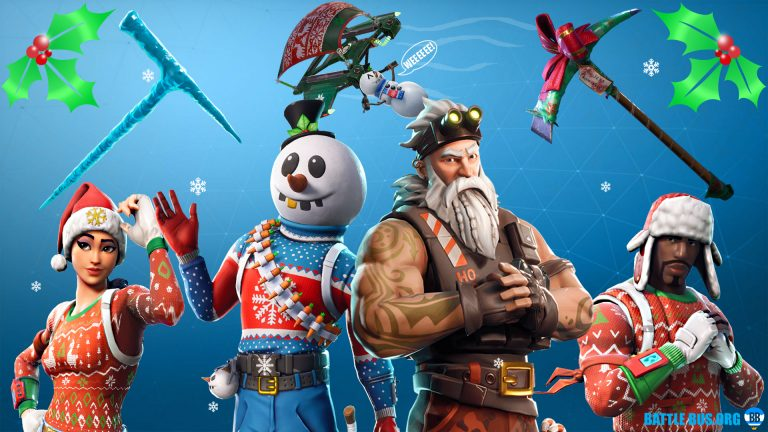 fortnite Christmas wallpaper