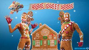 gingerbread wallpaper fortnite