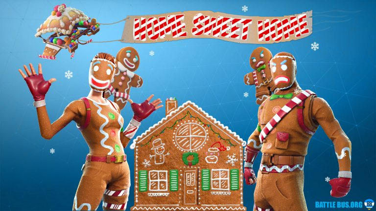 gingerbread wallpaper fortnite