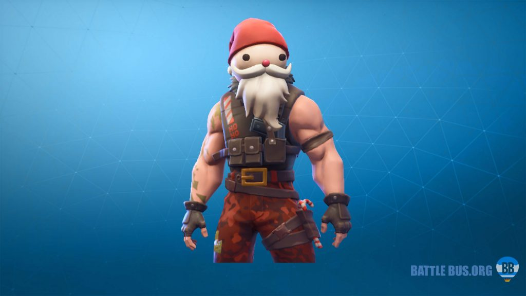 Sgt. Winter Santa head skin