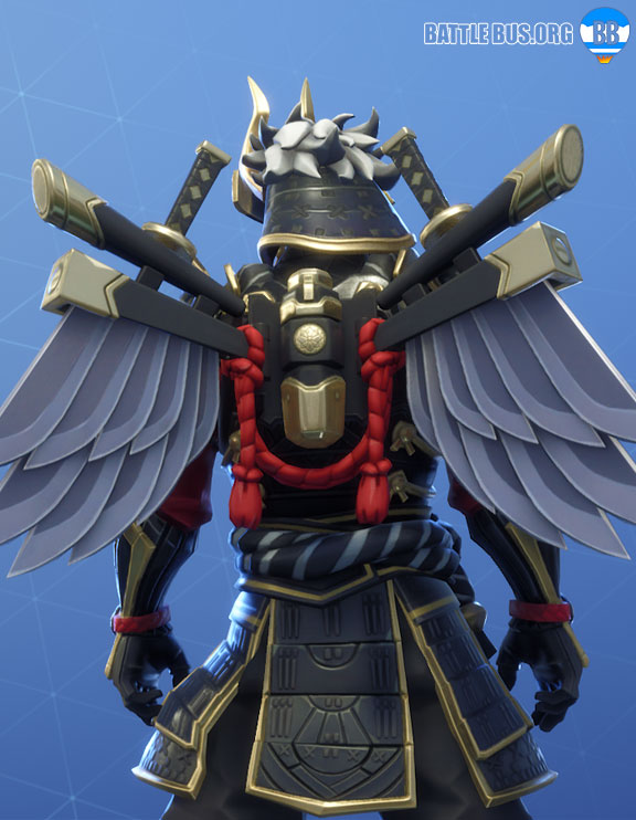 Bladed Wings Back Bling Shogun