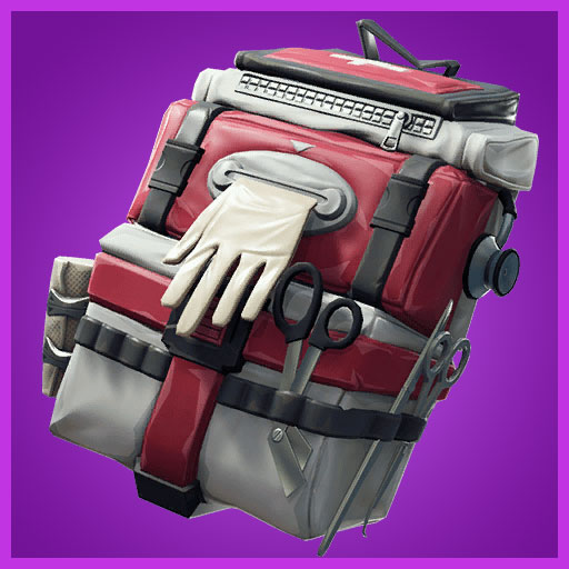 Fortnite Back Bling Care Package Support Squadron Set