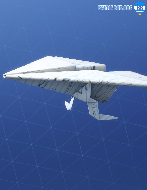 Paper Plane Glider - Calculator Crew Set - Fortnite News