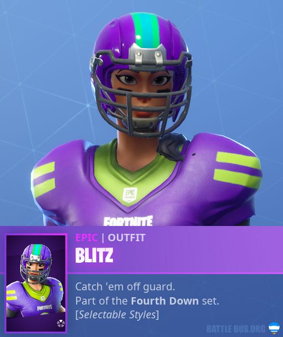 Blitz NFL Asian Female Fortnite