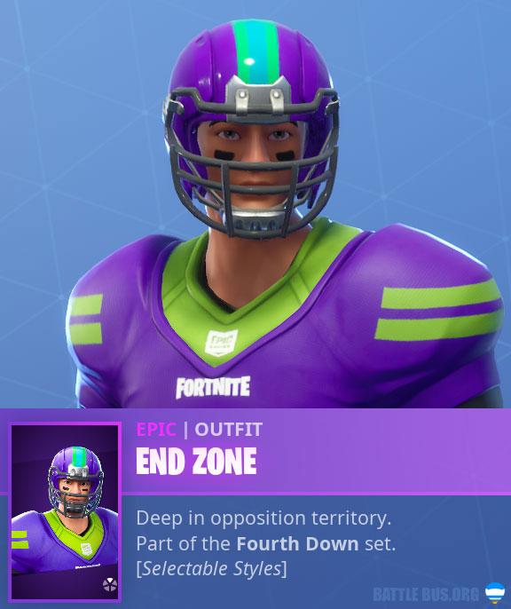 End Zone NFL Asian Male Fortnite