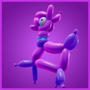 Fortnite Back Bling Balloon Llama Party Parade Set