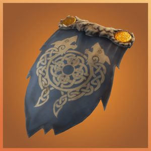 Fortnite Back Bling Crested Cape Laoch Set