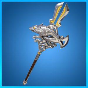 Fortnite Pickaxe Silver Fang Laoch Set