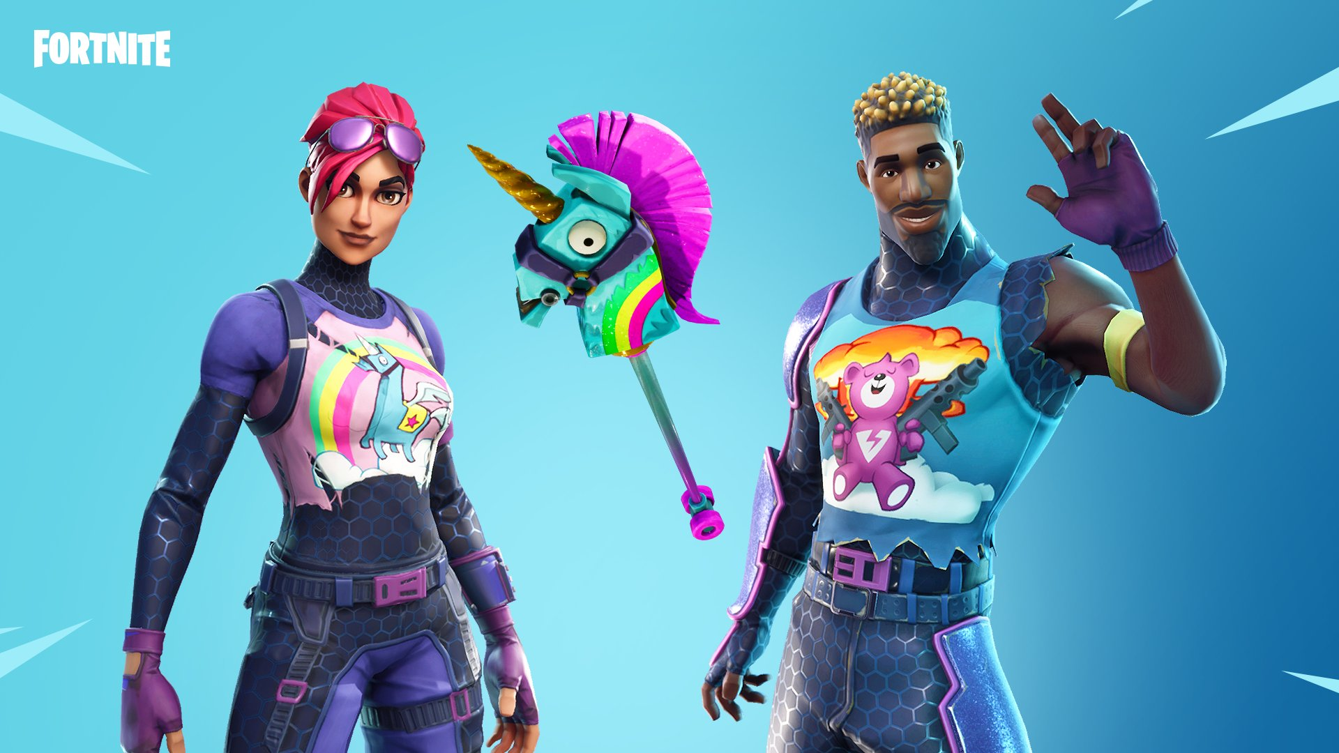 Fortnite Wallpaper Sunshine & Rainbows Set