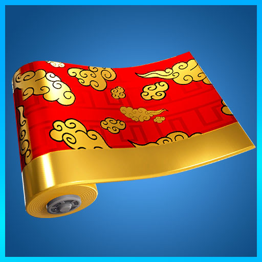 Fortnite Wrap Golden Clouds