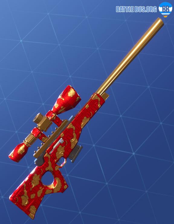 Golden Clouds Wrap Sniper Rifle