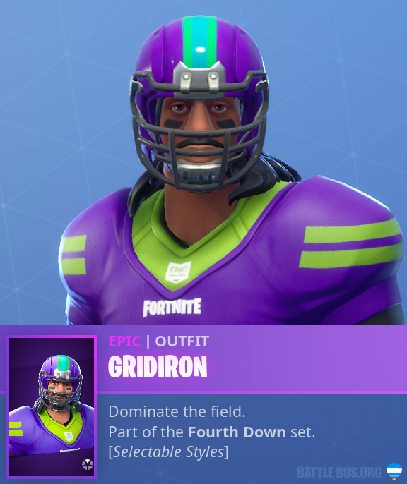 Gridiron-NFL-Mexican Male Variant Fortnite