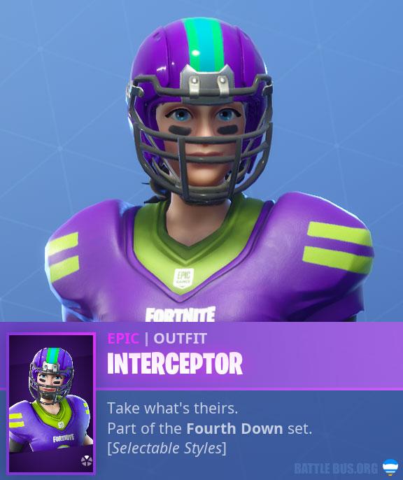 Interceptor NFL Caucasian Female Fortnite