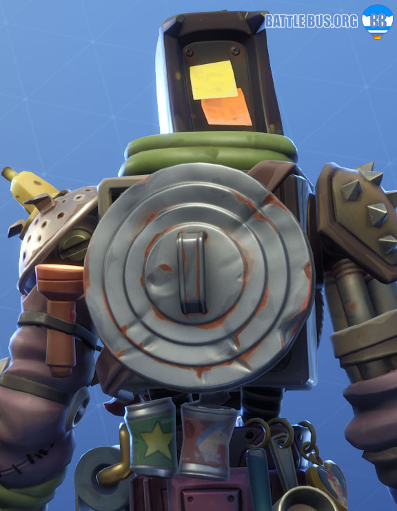 Trash Lid Back Bling Fortnite Kitbash Boneyard Set