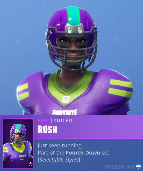 Rush NFL Black Female Fortnite