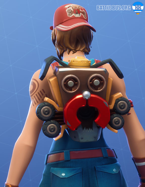 Scrappy Back Bling Fortnite Sparkplug Boneyard Set