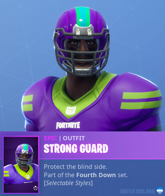 Strong Guard NFL African Male Fortnite