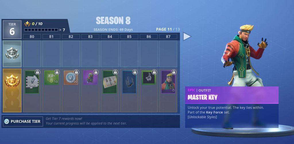 tier 87 Master key
