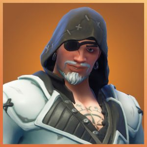 Blackheart White Color Scallywags Set Fortnite