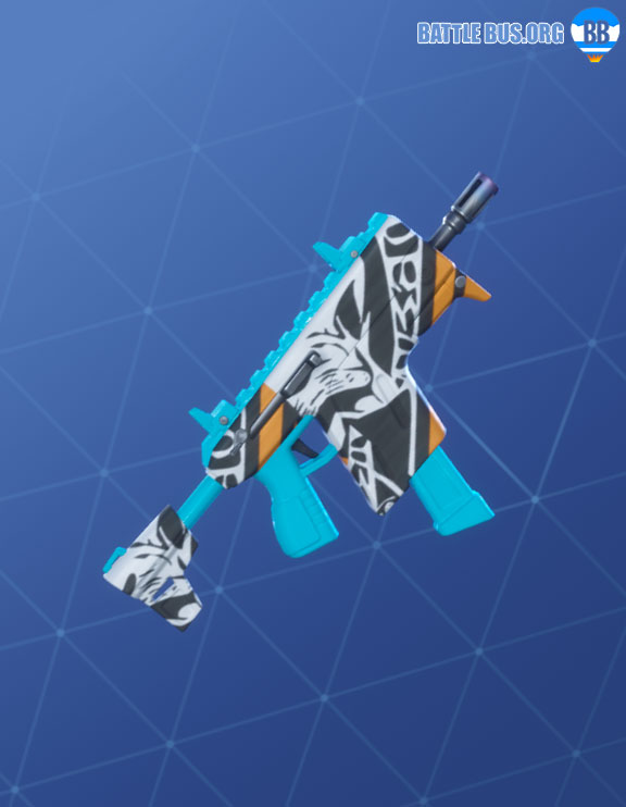 Bizzy Wrap Fortnite Roughneck Set SMG Vector