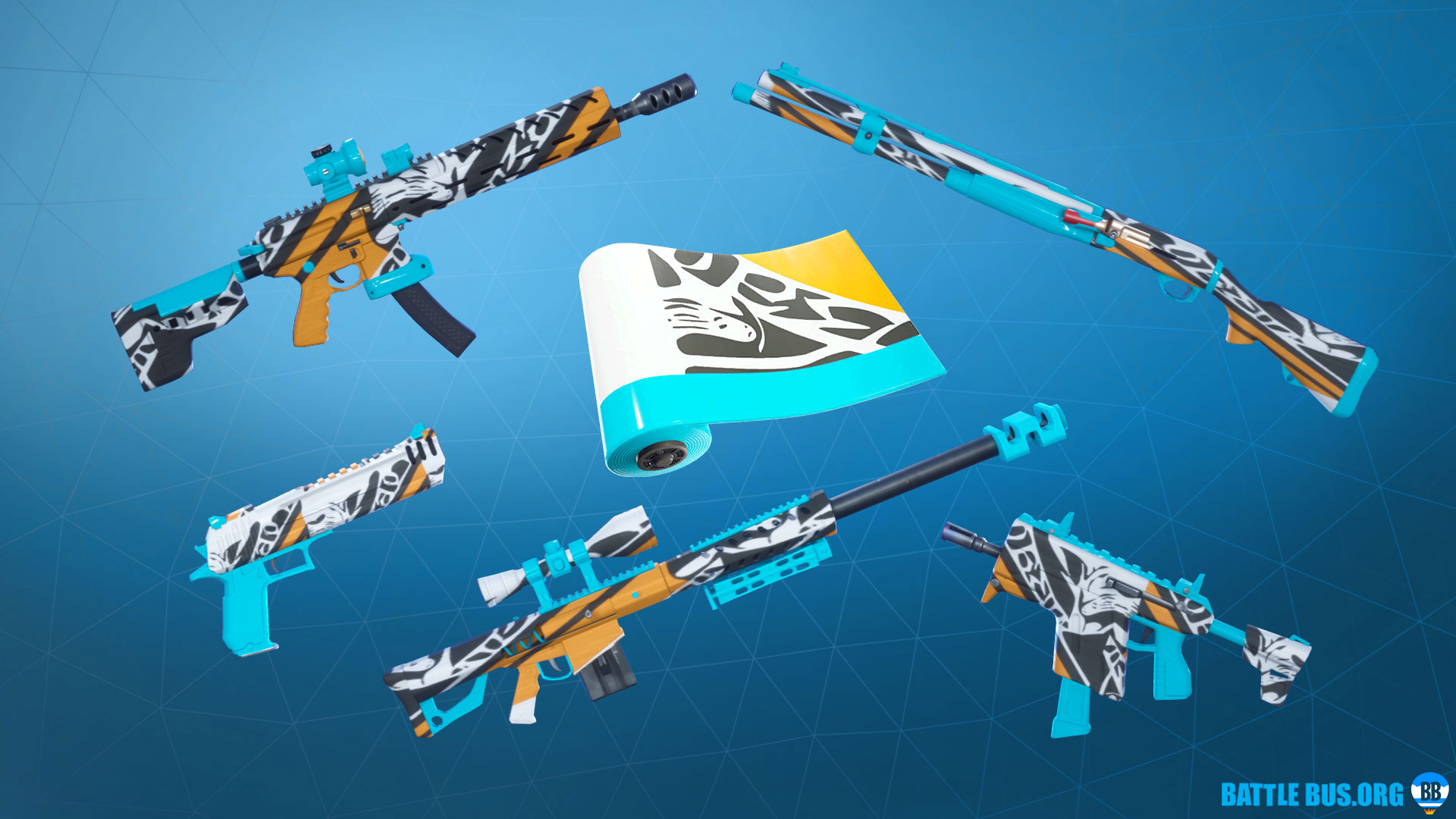 Bizzy Wrap Fortnite Roughneck Set