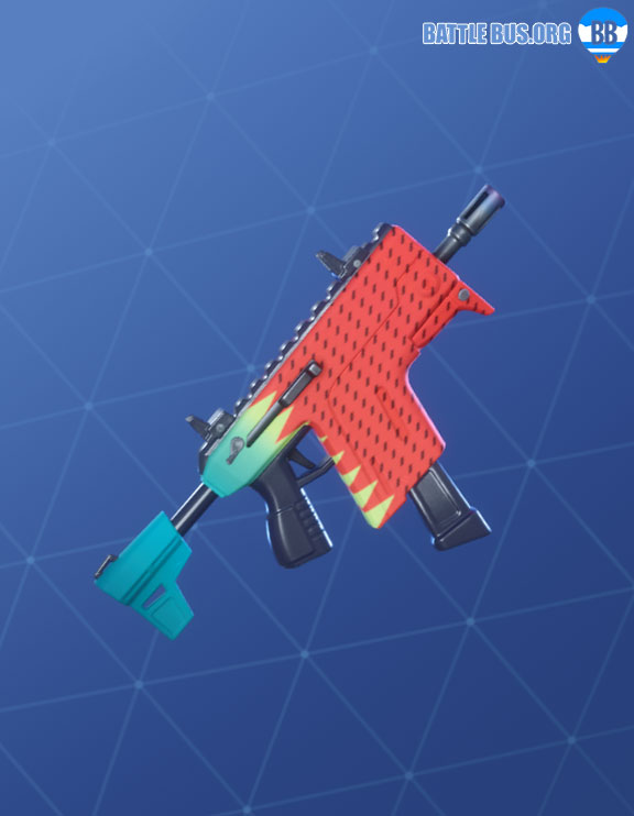 Hypermelon Wrap Fortnite SMG Vector