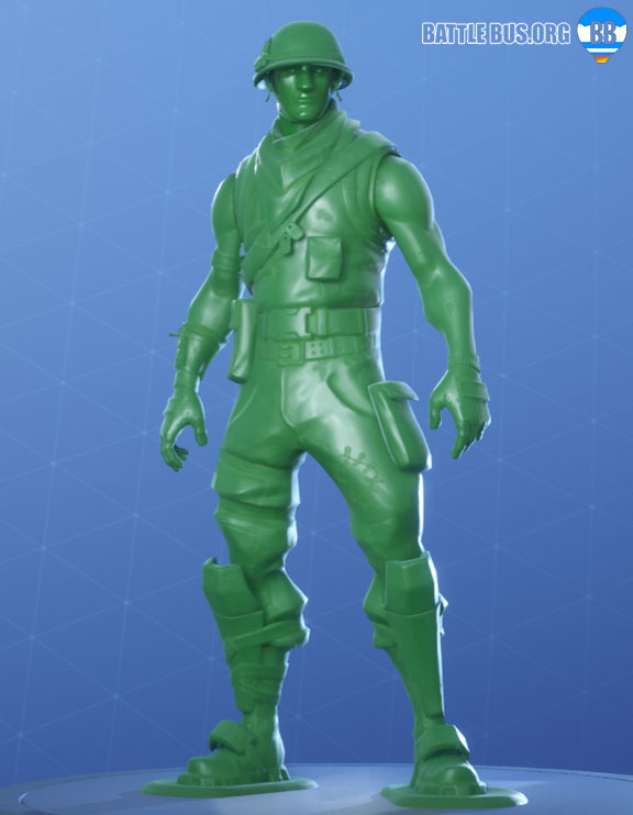 Plastice Patroller Skin Fortnite Toy Soldier Set