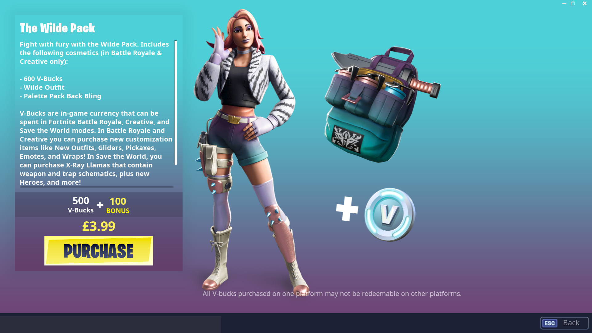 Wilde Fortnite Skin Pack Store