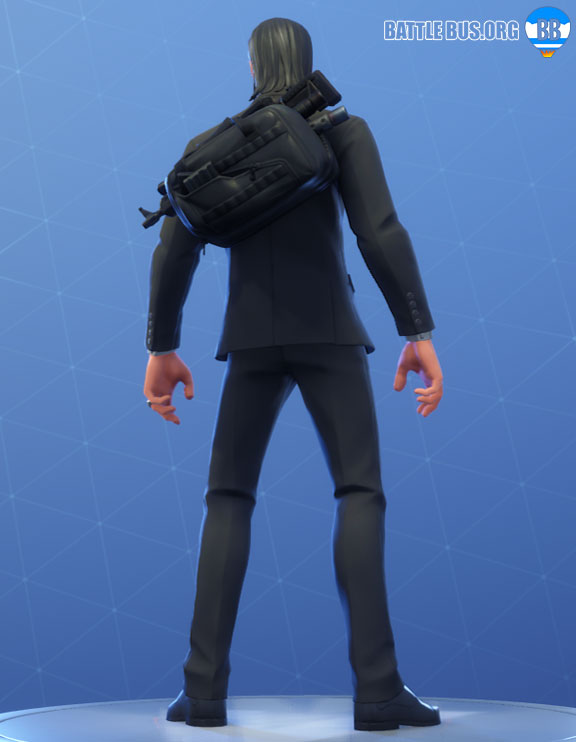 Assassin Pack John Wick Back Bling Fortnite