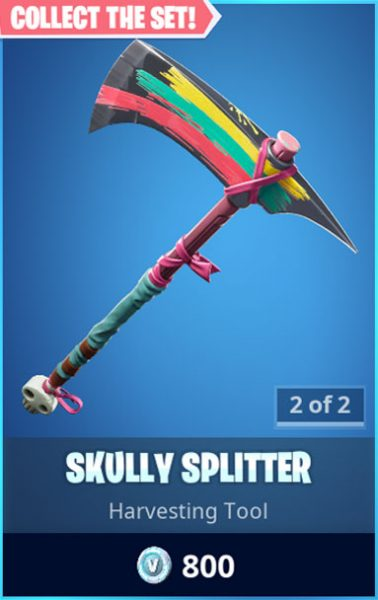 Skully Splitter Fortnite Pickaxe