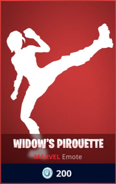 Widow's Pirouette Fortnite Emote